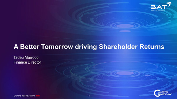 A Better Tomorrow driving Shareholder Returns