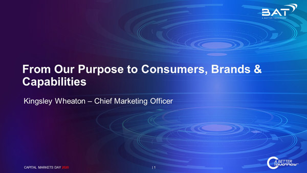 From Our Purpose to Consumers, Brands & Capabilities