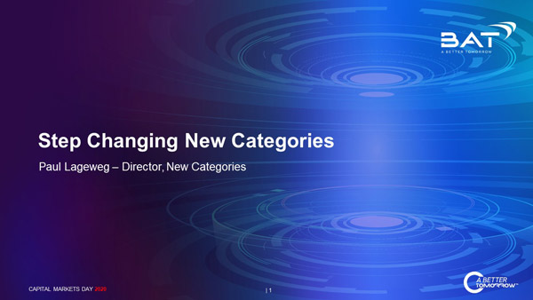 Step Changing New Categories