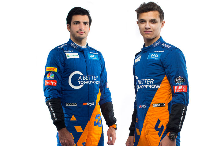 Drivers Carlos Sainz and Lando Norris