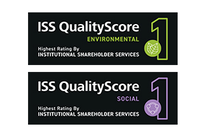Best-in-class ISS environmental and social quality scores